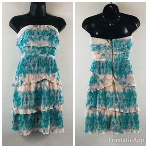 Anthropologie pin& needles tie dye ruffle dress